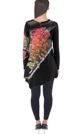 Flower in the Dark Long Sleeve Tunic