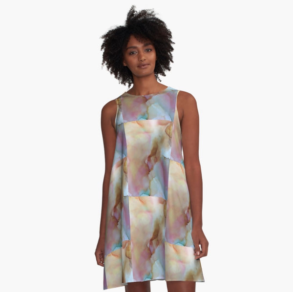Southwest Glow A-Line Dress