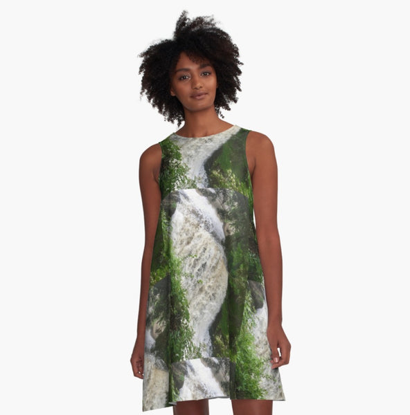 The Falls Are Falling A-Line Dress