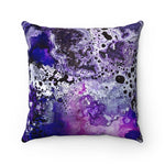Amethyst Faux Suede Square Pillow
