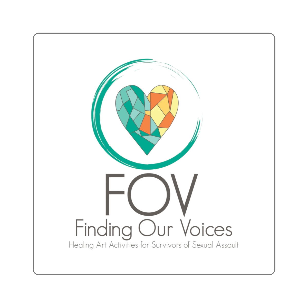 Finding Our Voices Square Stickers (4 sizes)