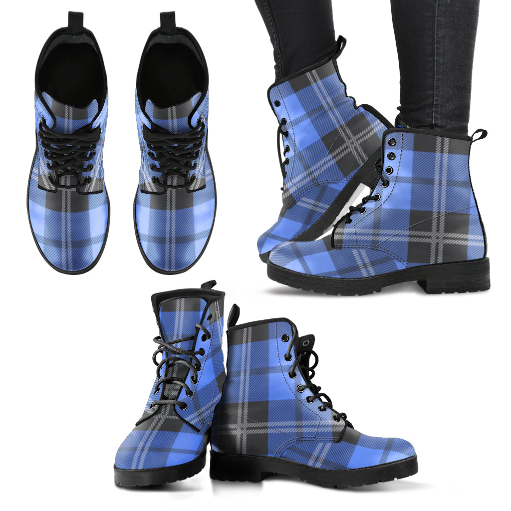 Blue Plaid (Vegan)