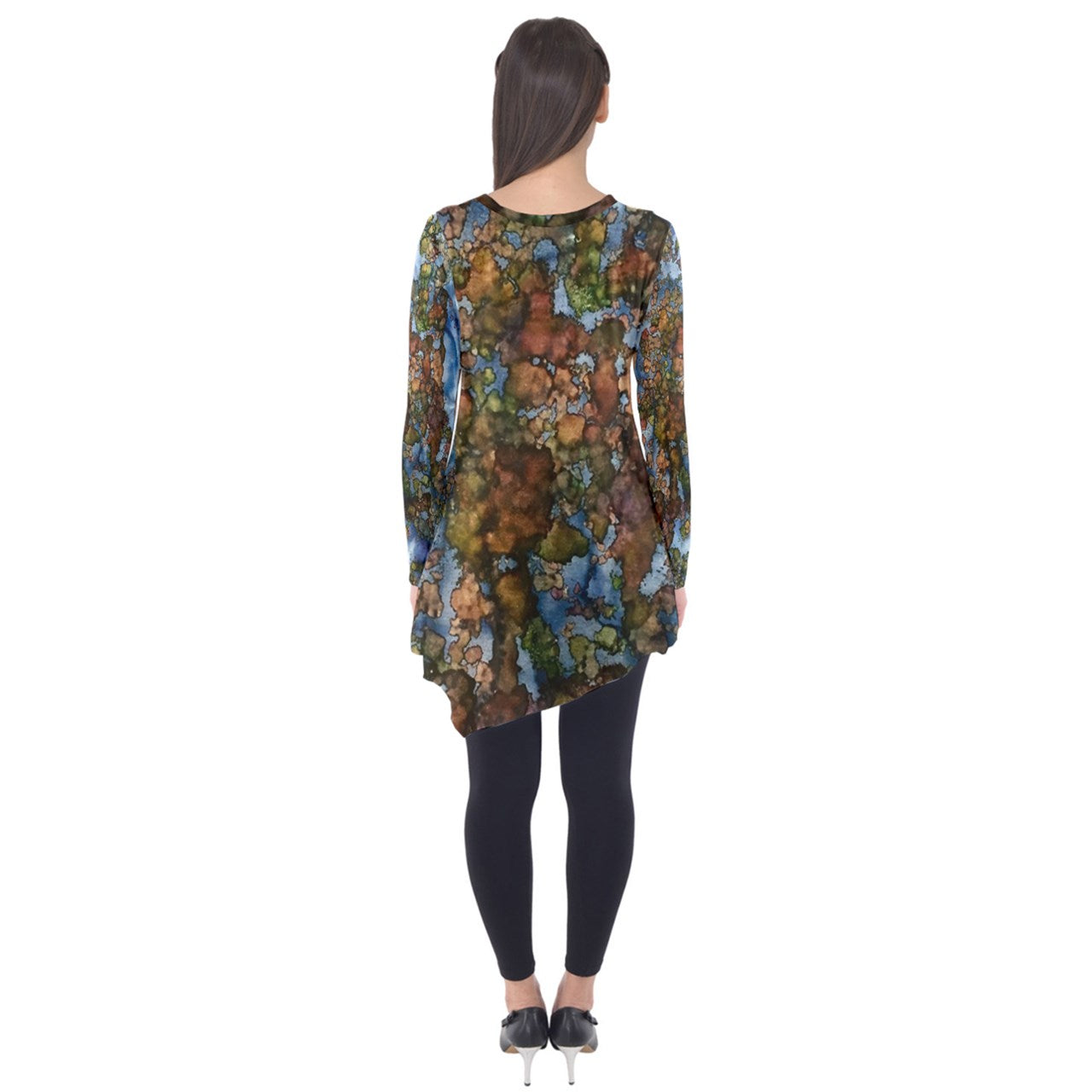 Cut the Earth into Cubes Long Sleeve Tunic