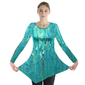 Turquoise Pour Long Sleeve Tunic