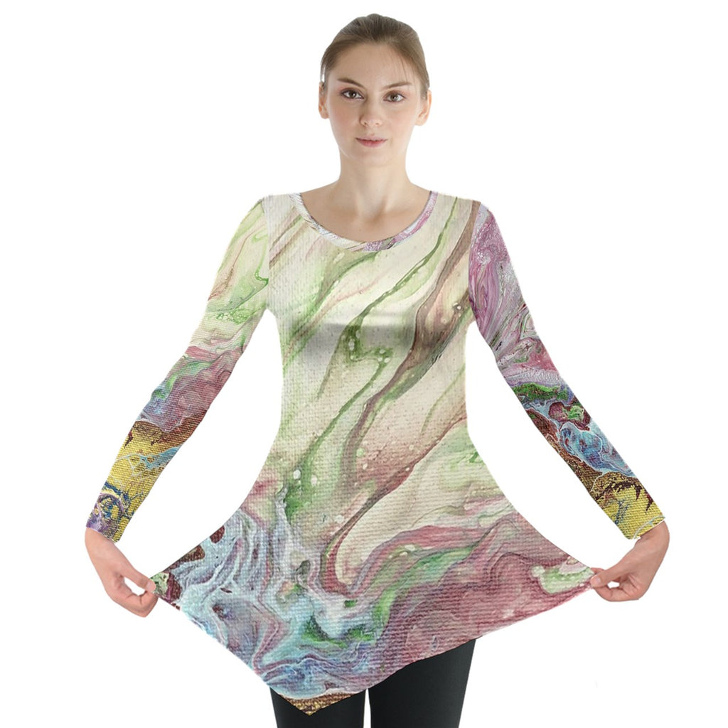 Cascades of Color Long Sleeve Tunic