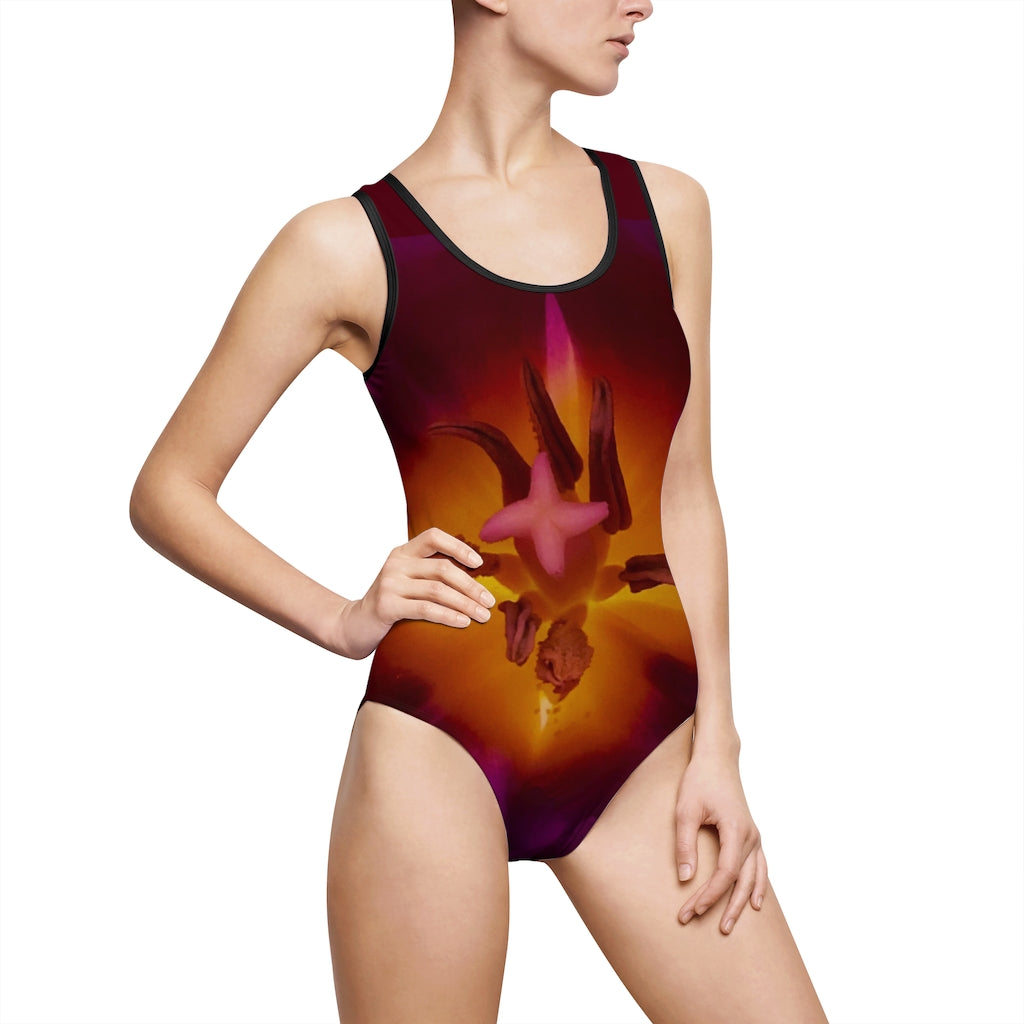 Inner Light of a Tulip Women's Classic One-Piece Swimsuit