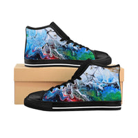 Cracks into Color Women's High-top Sneakers