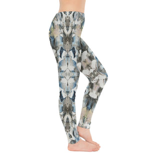 Blue Marble Shield Leggings