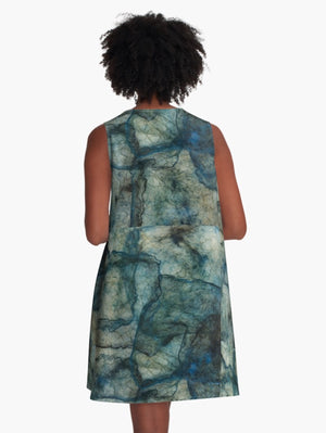 Blue Threads A-Line Dress