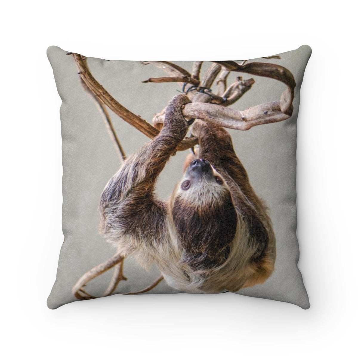 It's a Sloth Life Faux Suede Square Pillow