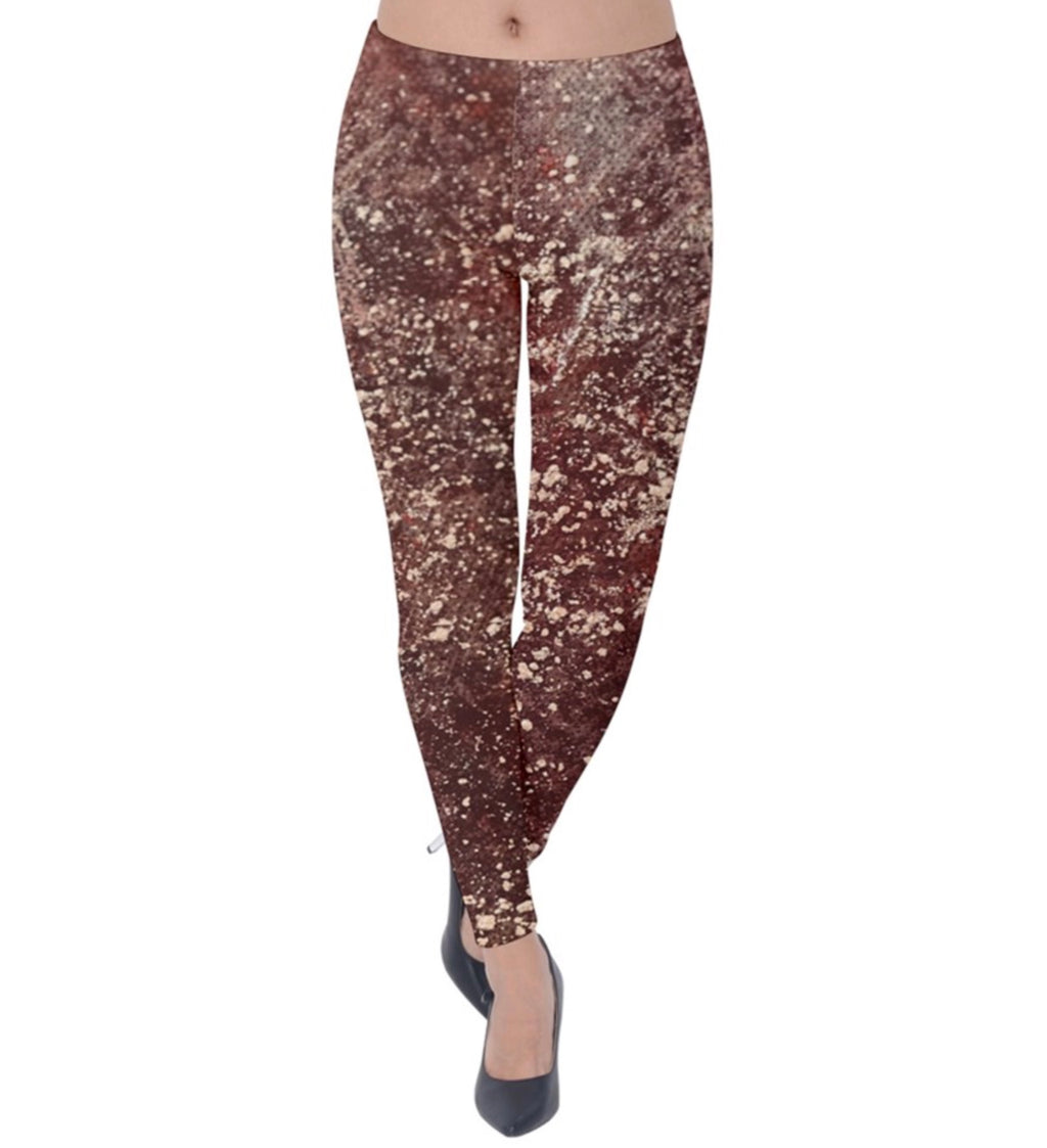 Rose Galaxy Velvet Leggings