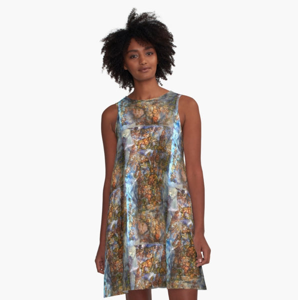 Glints of Autumn A-Line Dress