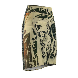 Stone Cipher Pencil Skirt