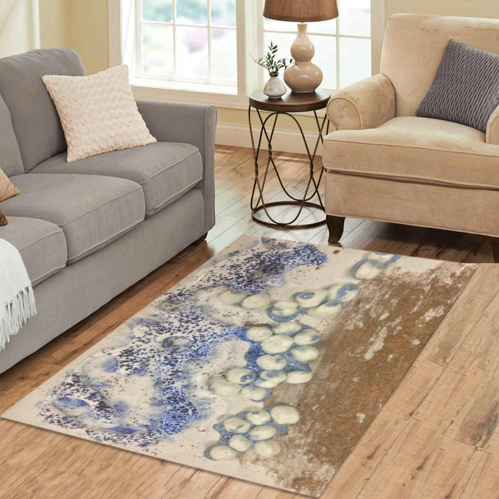 Abstract Bubbles Area Rug 5'3''x4'