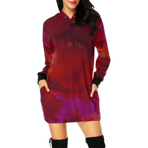 Yay Fall! All Over Print Hoodie Mini Dress