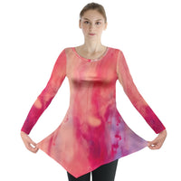 Abstractedly Pink Long Sleeve Tunic