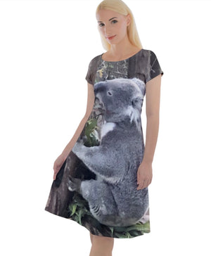 (NEW!) Koalas Love Rain Classic Short Sleeve Dress
