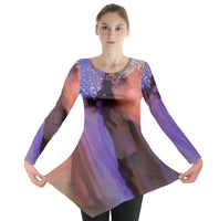Abstract Lilac Long Sleeve Tunic