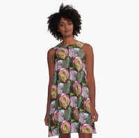 Roses in the Morning A-Line Dress