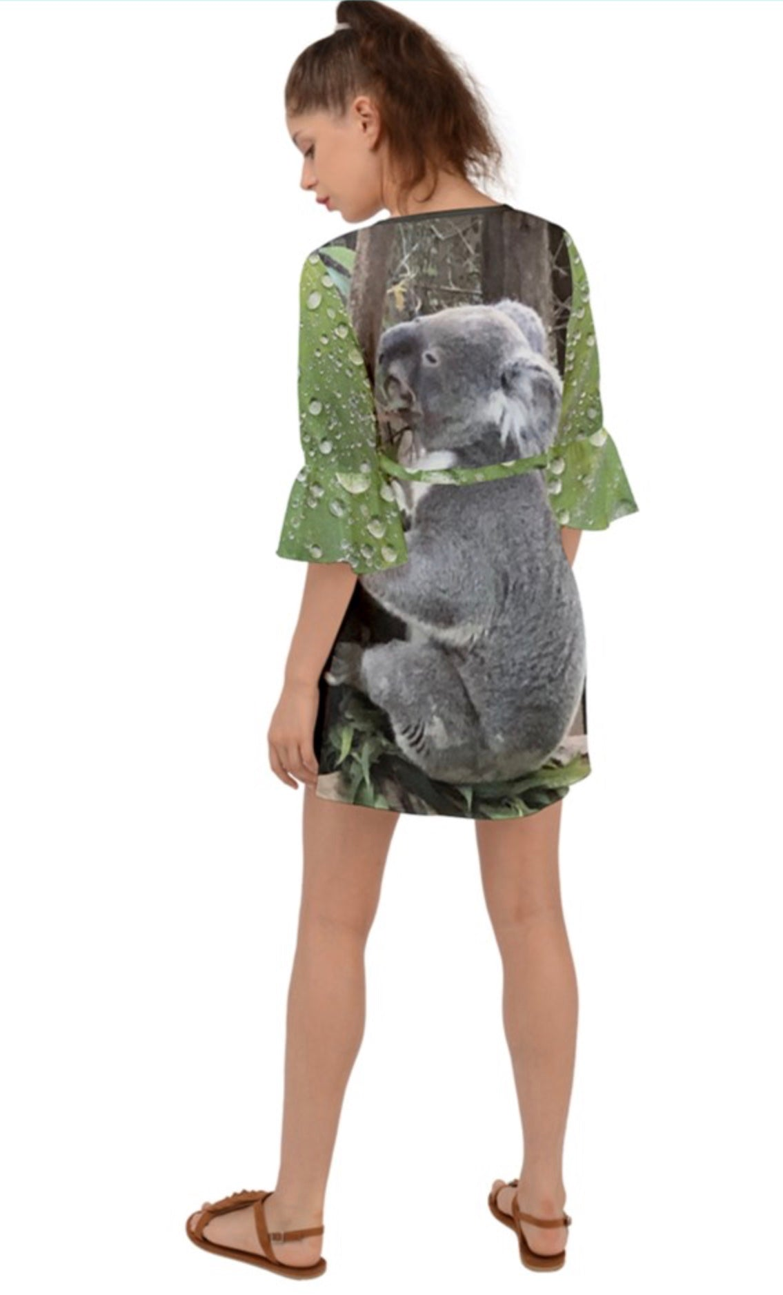 (NEW!) Koalas Love Rain Criss Cross Mini Dress