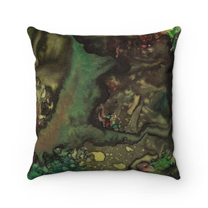 Fairy Forest, Night and Day Faux Suede Square Pillow