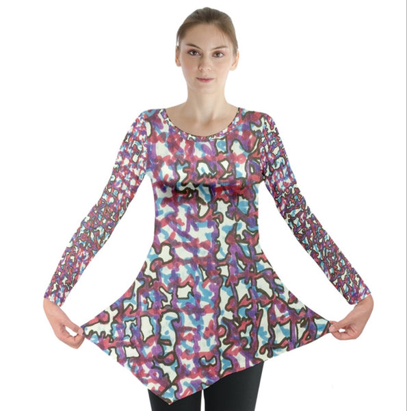Whispers of a Colorful Kind Long Sleeve Tunic