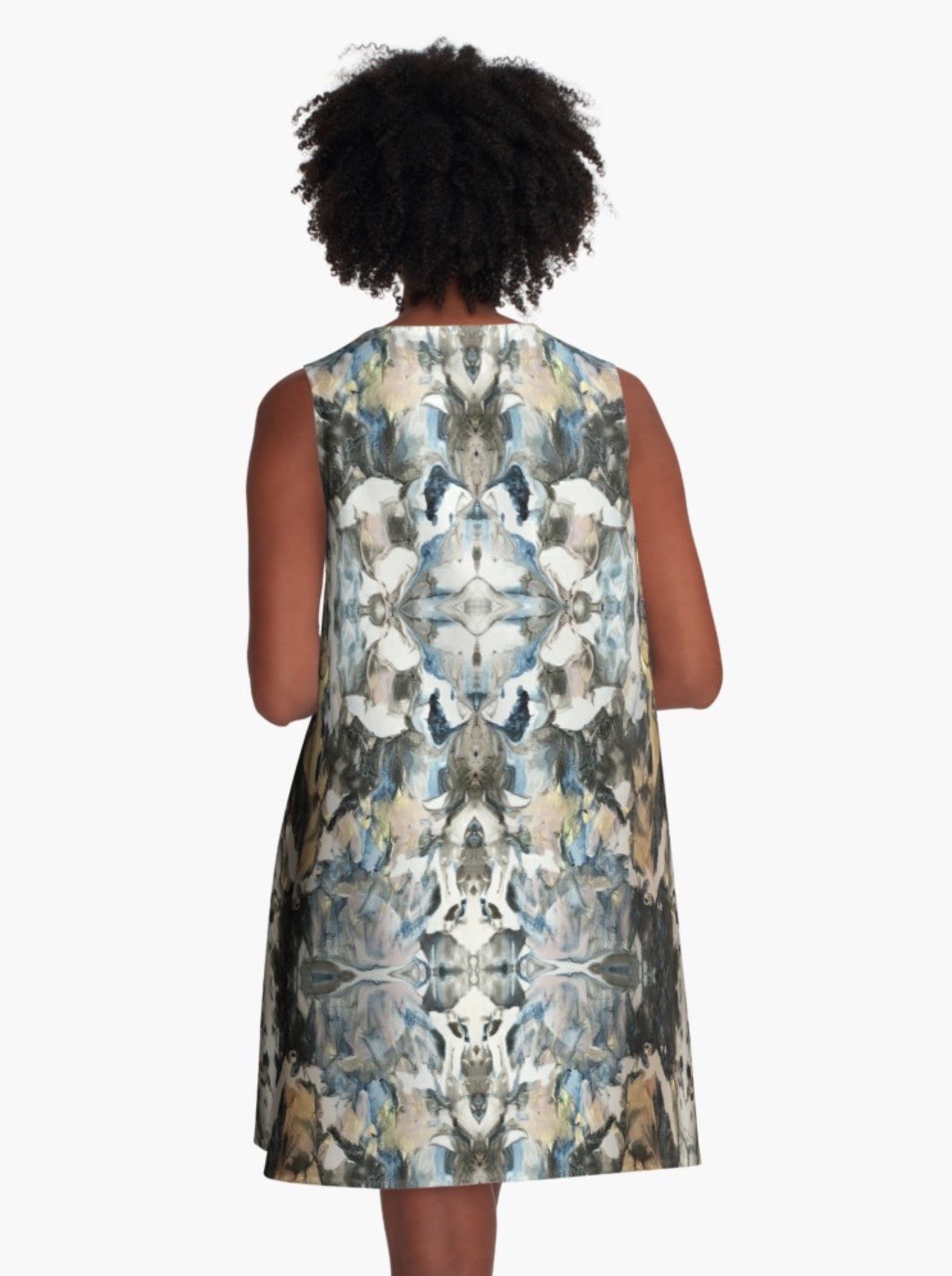 Blue Marble Shield A-Line Dress