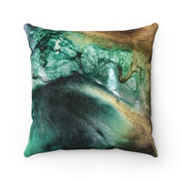 Jewel Tones of Earth Faux Suede Square Pillow Case
