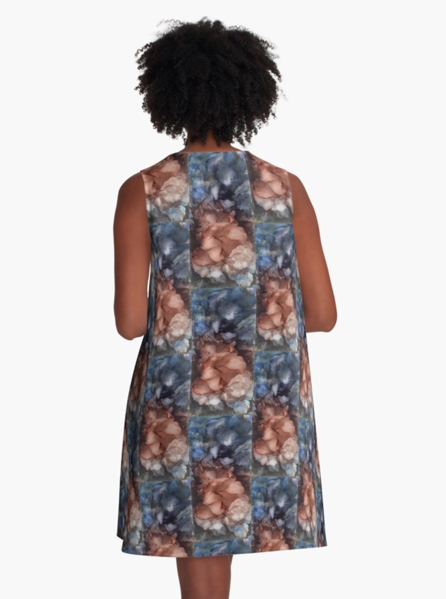 Earth and Glass A-Line Dress