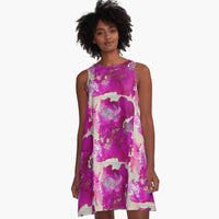 Fuschia Fusion A-Line Dress