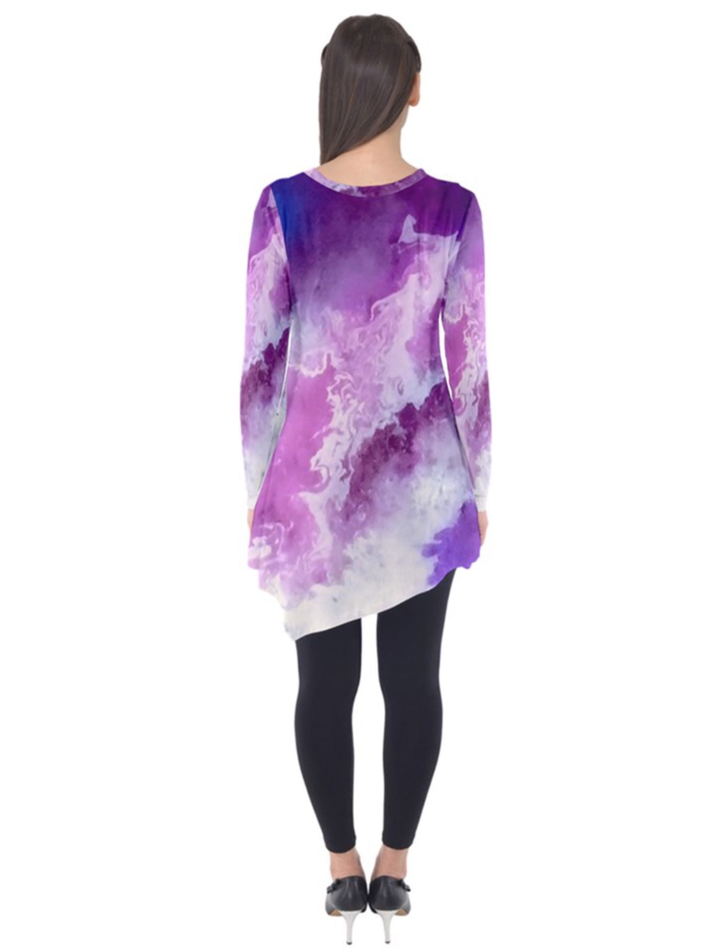 Magenta Smoke Long Sleeve Tunic