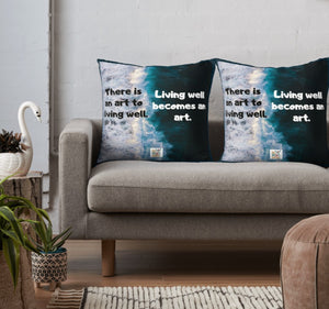 Living Is An Art Pillows in 3 sizes