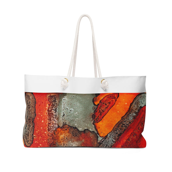 Sideline Orange Weekender Bag