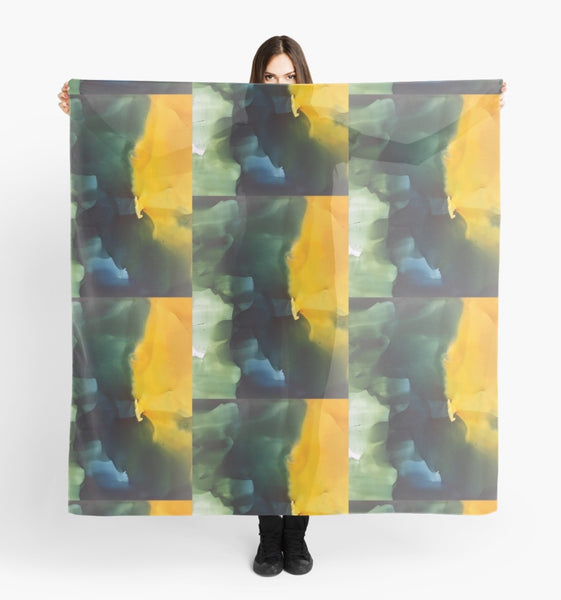 Yellow Jumps Green Scarf