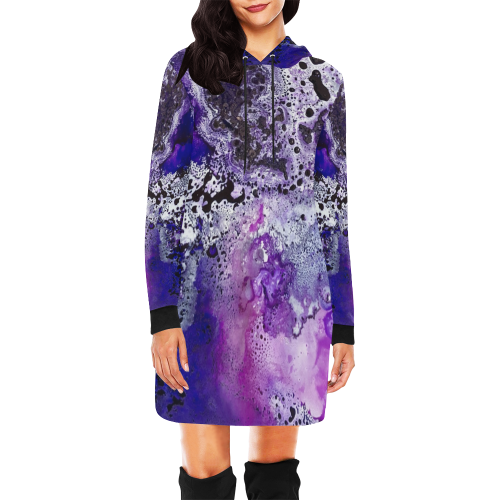 Cosmic Congruency All Over Print Hoodie Mini Dress