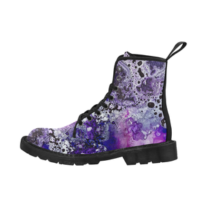 Who Loves Purple? Martin Boots for Women (Black)