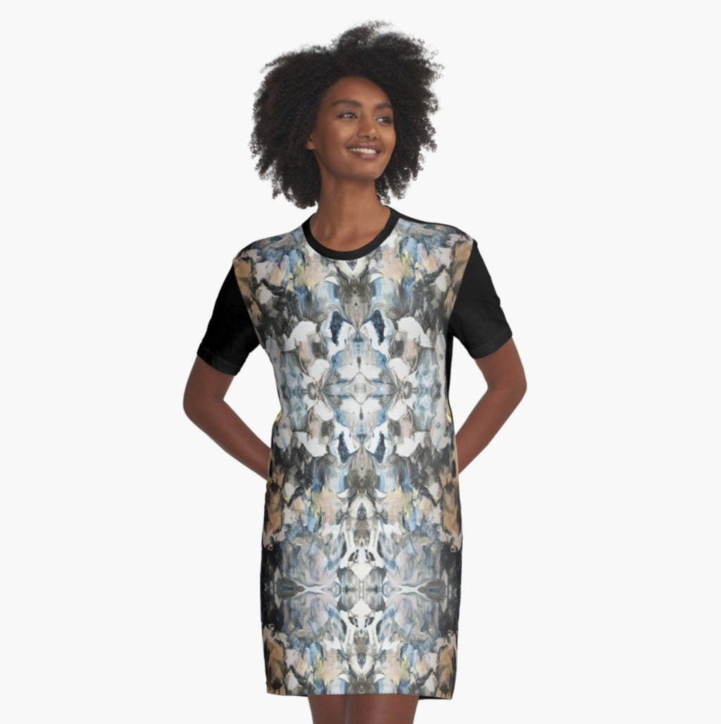 Blue Marble Shield T-Shirt Dress