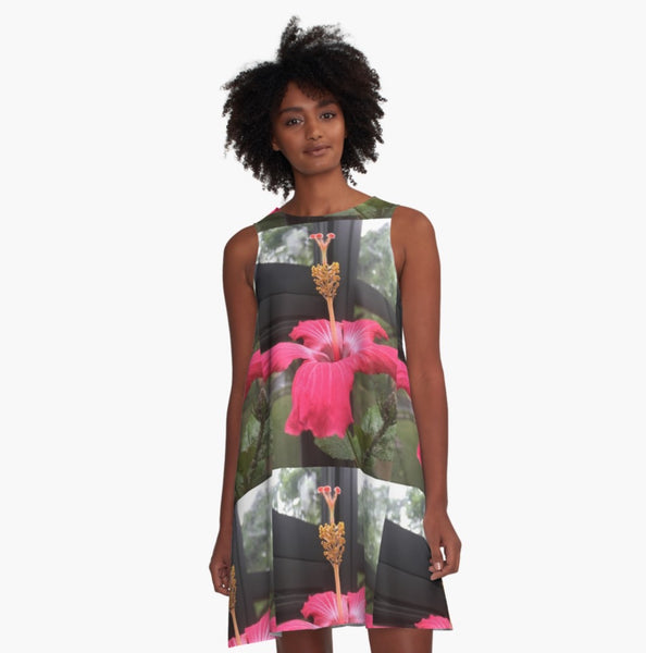 Hibiscus Delight A-Line Dress