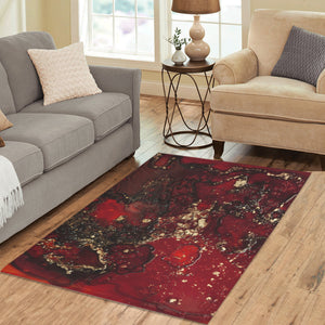Red Mocha Meets Gold Area Rug 5'3x4