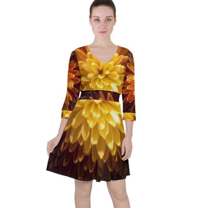 Spring/Summer Quarter Sleeve Ruffle Waist Dress Collection