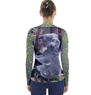 (NEW!) Koalas Love Rain V-Neck Long Sleeve Top