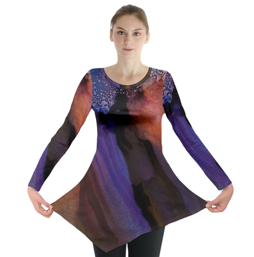 Galactic Twilight Long Sleeve Tunic