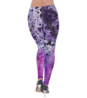 Amethyst Galaxy Velvet Leggings