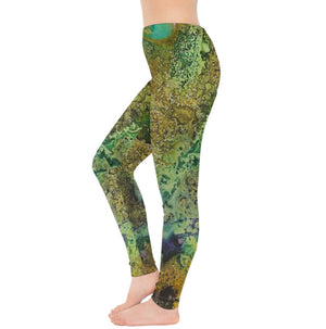 Green Sands of Time Leggings