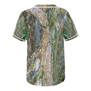 Forest Stone with White Trim Baseball Jersey for Men