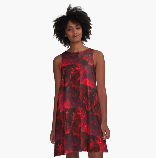 Red as the Heart A-Line Dress
