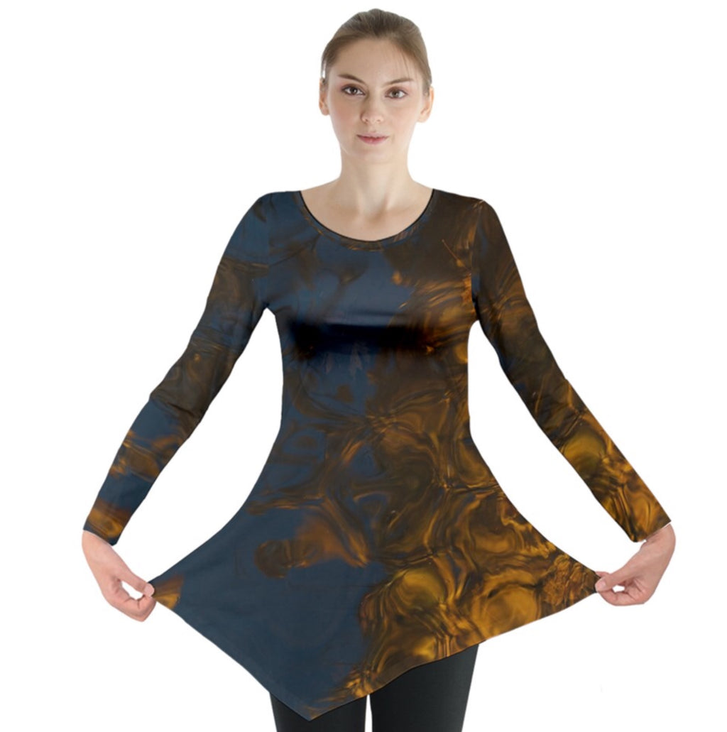 Golden Twilight Long Sleeve Tunic