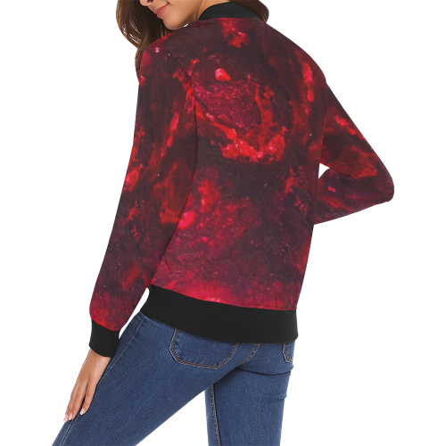 Red as the Heart Bomber Jacket