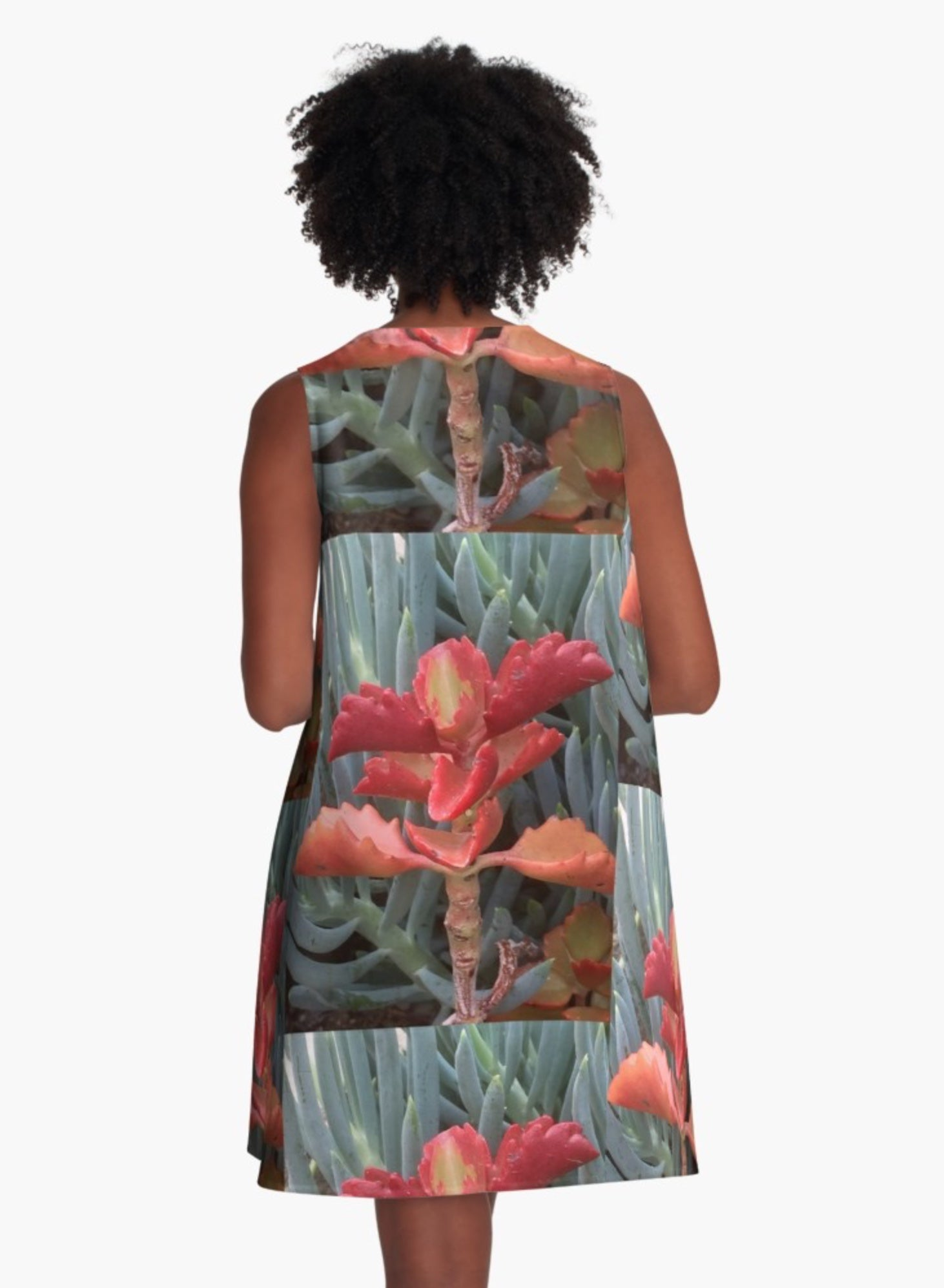 California Blossom A-Line Dress