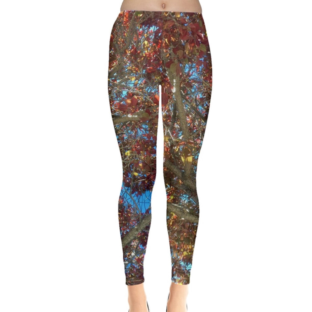 Red Leaves of Summer Leggings